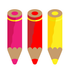 Color pencils warm colors vector