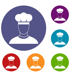 Cook icons set vector