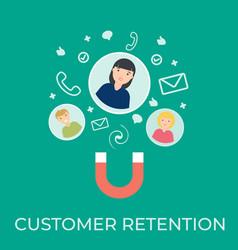 customer retention flat vector image
