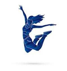 Dancer hip hop street dance b boy dance action vector