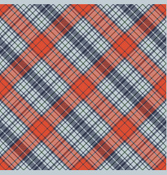 Diagonal fabric textile check seamless pattern vector
