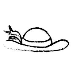 elegant female hat isolated icon vector image