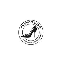 Feminine womens shoes logo fashionable vector