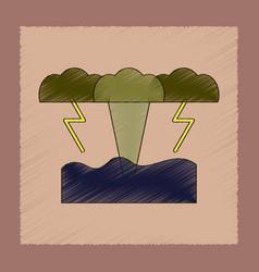 Flat shading style icon nature tsunami vector