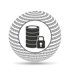 Globe binary concept data base security vector