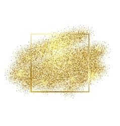 Gold sparkles on white background glitter vector