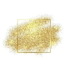 Gold sparkles on white background Gold glitter vector