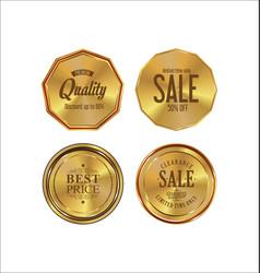 golden labels retro vintage collection 2 vector image