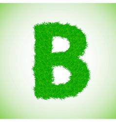 grass letter B vector image