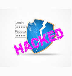 Hacker attack data security theme vector