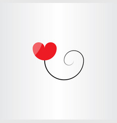 heart balloon logo symbol vector image