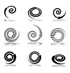 Helix design elements vector image