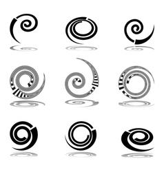Helix design elements vector
