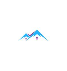 home mountain nature logo vector image