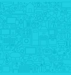 household blue line tile pattern vector image