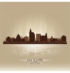 Jackson Mississipi skyline city silhouette vector