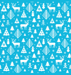kntted christmas motives pattern vector image