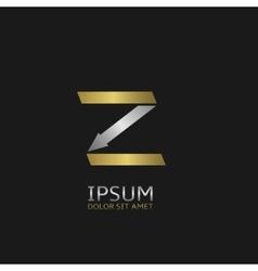 Letter Z logo vector image