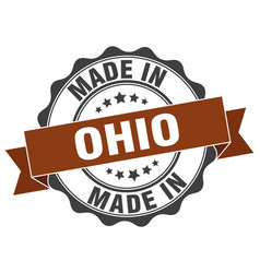 Made in ohio round seal vector