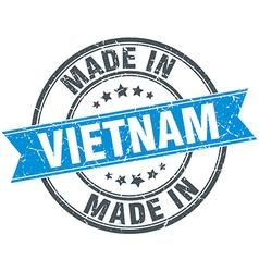 Made in Vietnam blue round vintage stamp vector