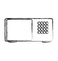 microwave illsutratio vector image
