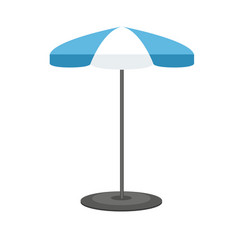 Mock up of umbrella or sunshade with flat and vector