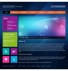 Modern website design template vector image