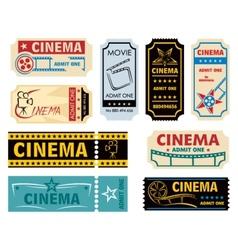Movie admission vector image