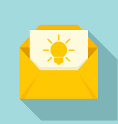 New mail innovation icon flat style vector
