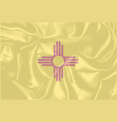 new mexico state silk flag vector image