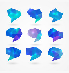 polygonal speech bubbles vector image