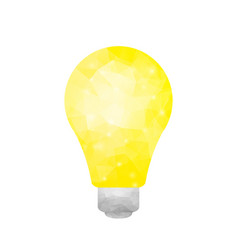 polygonal yellow light vector image