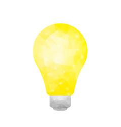 polygonal yellow light vector image