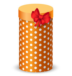 Present for birthday or anniversary gift with bow vector