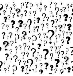 question mark seamless pattern on white background vector image