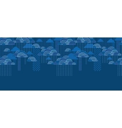 Rain clouds horizontal seamless pattern background vector image