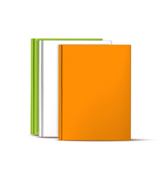 realistic books standing in row education vector image