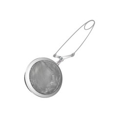 Realistic tea strainers silver object isolated vector