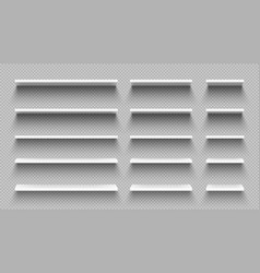 Realistic white empty shelves with shadow isolated vector