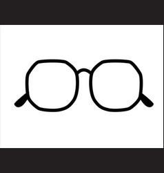 Retro icon glasses isolated on background vector