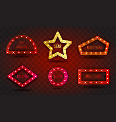 retro show time signs realistic vector image