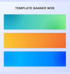 set banner web vibrant gradient color with vector image