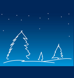 Simple line christmas background vector
