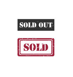 sold sold out rubber stamp image vector image