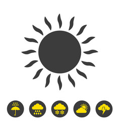 sun icon on white background vector image