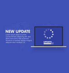 system software update and upgrade concept vector image