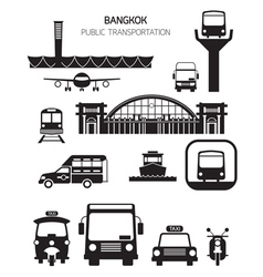 Thailand Transportation Objects vector