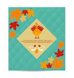 thanksgiving autumn fall background with pumpkin vector image