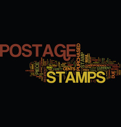 The current facts on postage stamps text vector