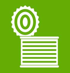 Tincan icon green vector